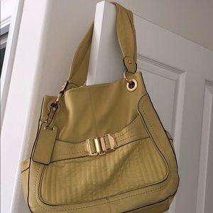 Women's B. Makowsky mustard yellow purse